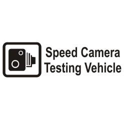 Speed Camera Testing Vehicle huumoriga autokleebis
