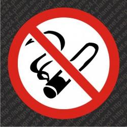 Suitsetamine keelatud - kleebis hoiatuskleebis