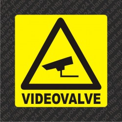 Videovalve - Hoiatuskleebis