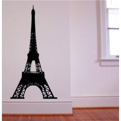 Eiffel Tower Silhouette - self adhesive wall decoration sticker