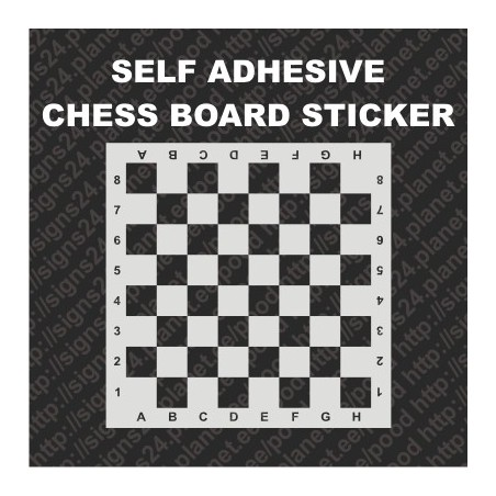 Self adhesive Chess board game imitation sticker decal