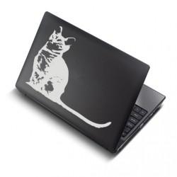 Istuv kass - sülearvuti kaane disainkleebis