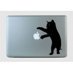 Mängiv kiisu 2 - sülearvuti kaane disainkleebis vinüülkaunistus