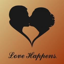 Love Happens - self adhesive wall decoration sticker