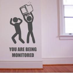 You Are Being Monitored - kleebitav seinadekoratsioon seina kleebis