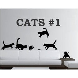 Cats nr. 1 - self adhesive wall decoration stickers