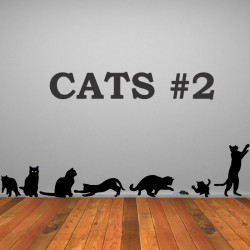 Cats nr. 2 - self adhesive wall decoration stickers