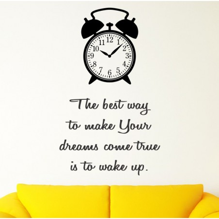 Best way To Make Your Dreams Come True - self adhesive wall decoration sticker
