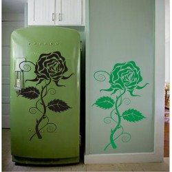 Rose Wall Decal Self Adhesive Flower wall decoration sticker