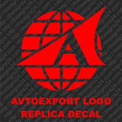 Avtoexport logo nõukogudeaegne replika retro kleebis