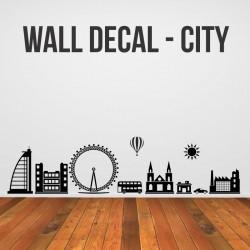 Mini linna kleebis lastetuppa - kleebitavad seinadekoratsioonid seinakleebised