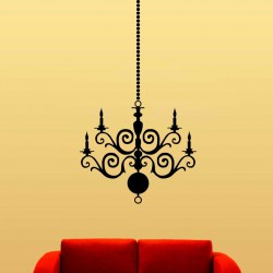 Cristal Chandelier - self adhesive wall decal