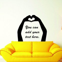 Hands Form A Heart  - self adhesive wall decal