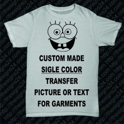 Custom Made Single Color Transfer Picture for Garments