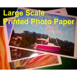 Large scale printed photo paper, personalized large photo prints