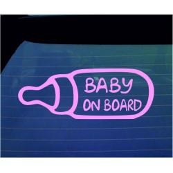 Baby on Board Milk Bottle Car Decal Bumper Sticker