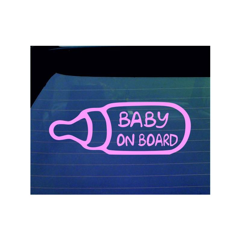 Baby on Board Decal Milk Bottle