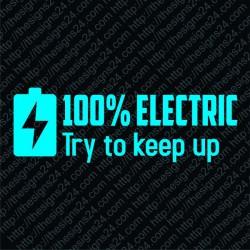100% electric - pamprikleebis elektriautole