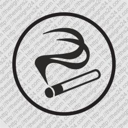 Suitsuruumi suitsetamisala tähistav kleebitav silt