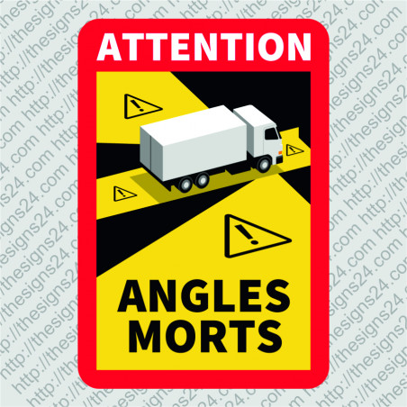 Angles Morts pimenurga või pimeala hoiatuskleebised