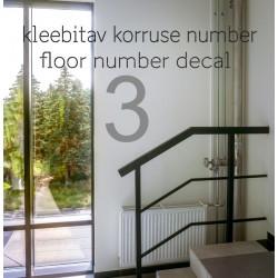 Kleebitav korruse number kortermajade korteriühistutele büroohoonetele