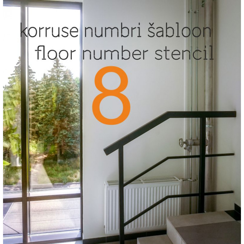 Korruse numbri šabloon, numbri trafarett kortermaja büroohoone korrusele