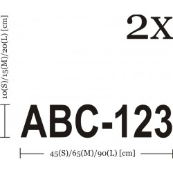 Self Adhesive Boat Registration Number Decals Vinyl Lettering Stickers