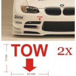 Tow Sticker Decal 2pcs